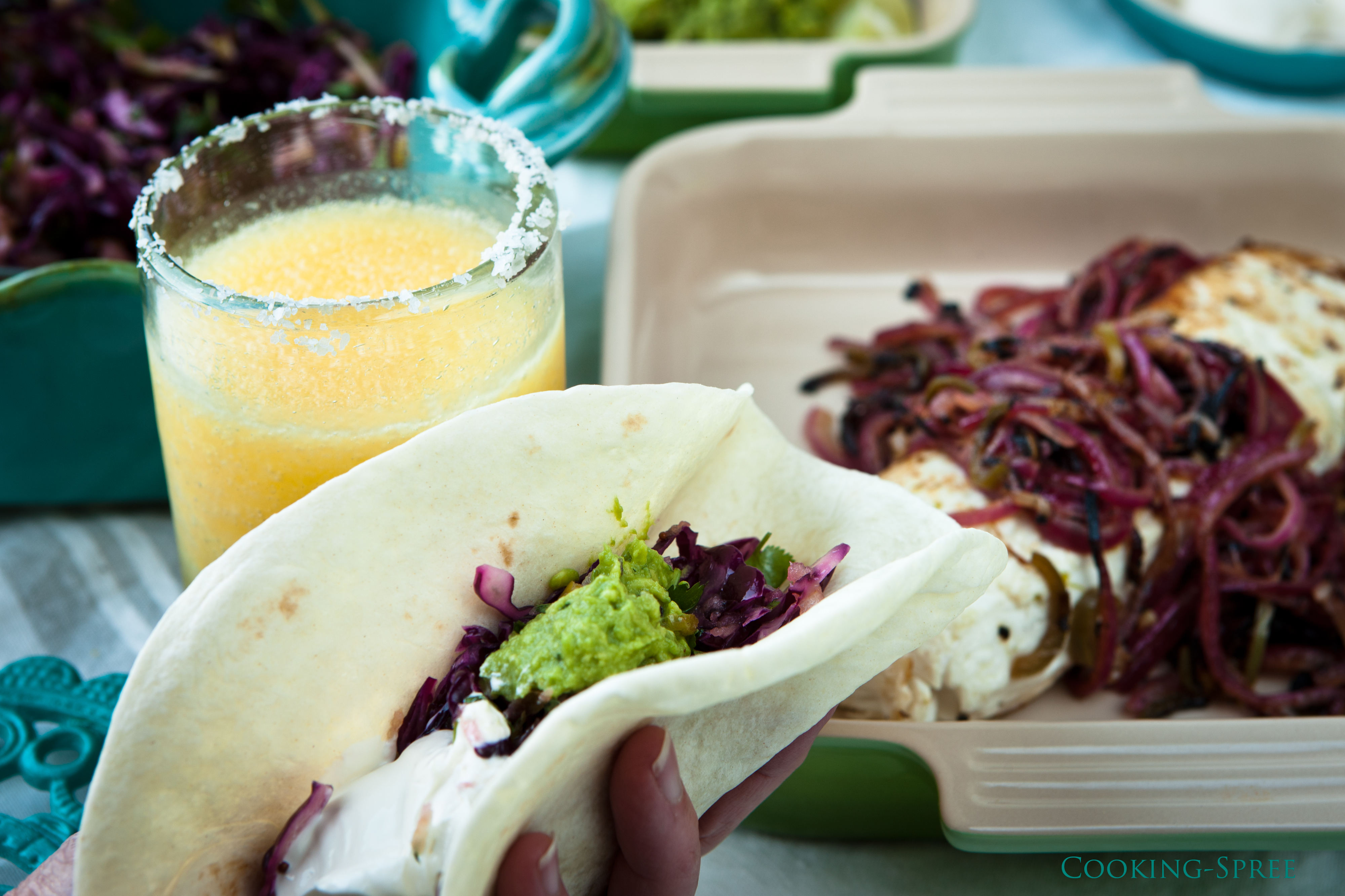 Halibut Tacos with Tequila-lime Marinade | cooking-spree