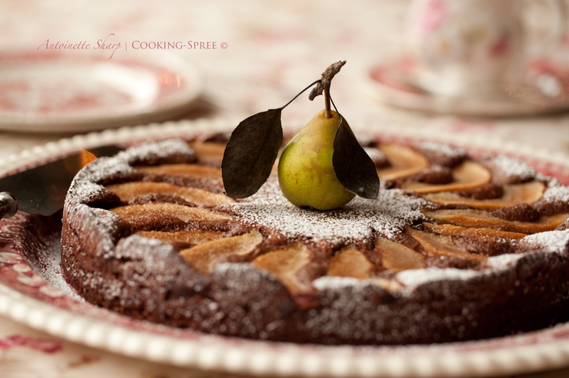 DarkChocolatePearTorte-2